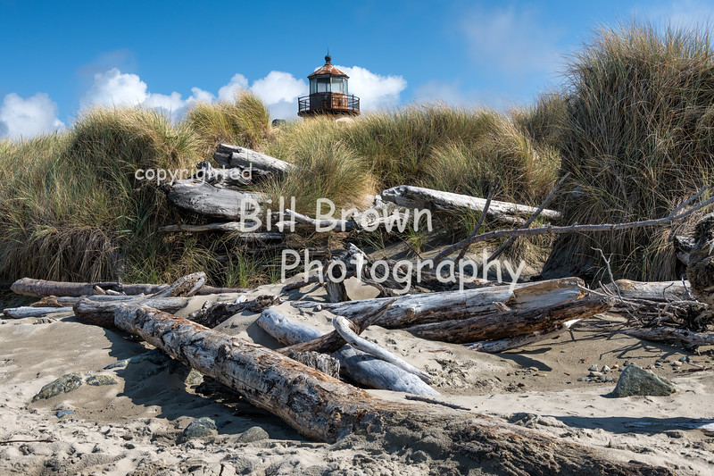 Coquille River Light from Beach