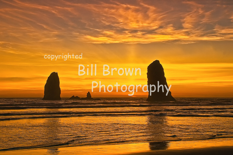 The Needles at Sunset, Cannon Beach