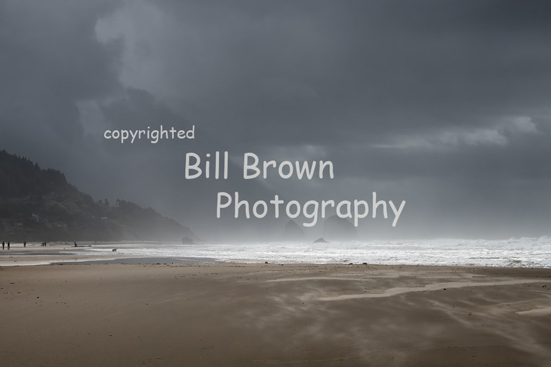 Approaching Storm at Cannon Beach