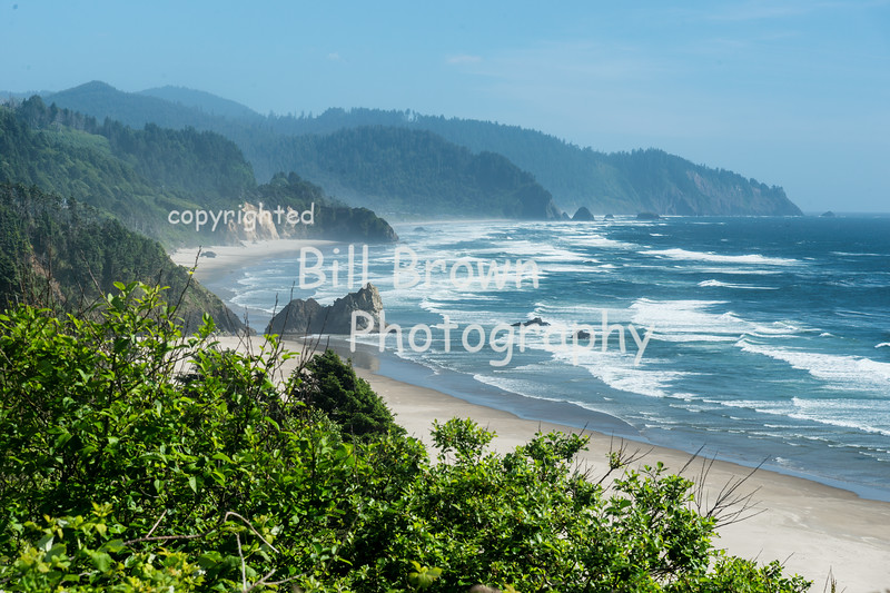 View south of Cannon Beach