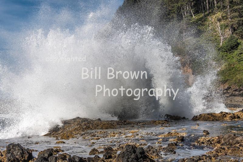 Waves Crashing at Cape Perpetua