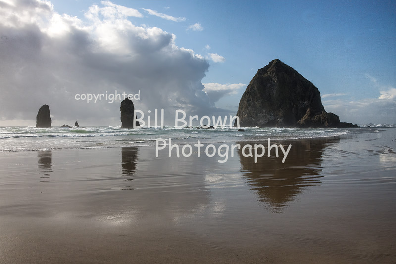 Haystack Rock and the Needles