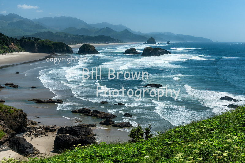 View from Ecola State Park toward Cannon Beach