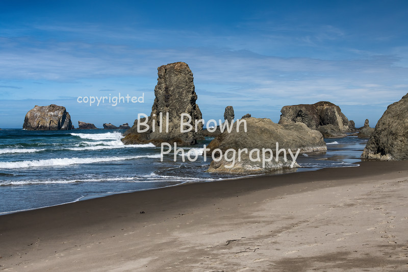 Rocks at Bandon Beach