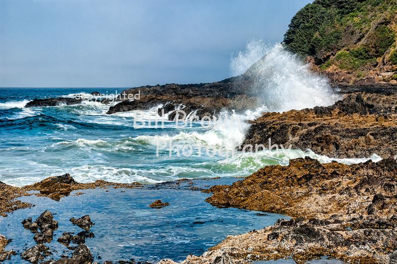 Waves Crashing near Devil's Churn