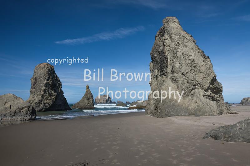 Rocks along Bandon Beach