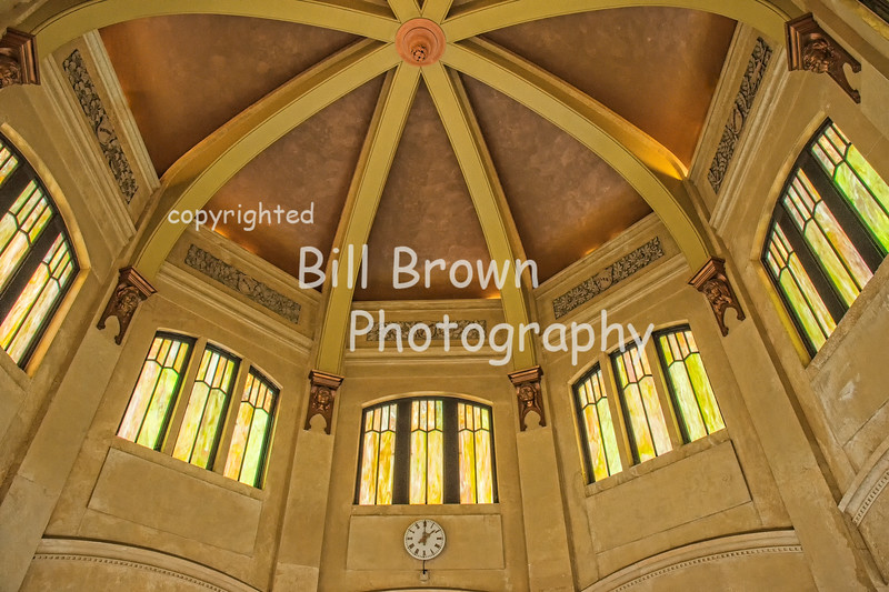 Inside the Vista House at Crown Point