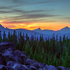 Sunset Over Oregon's Giants