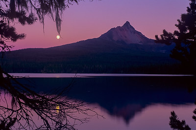 A Big Lake Moonrise