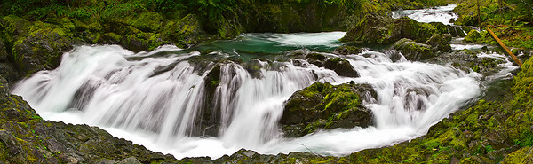 Verdant Falling Water