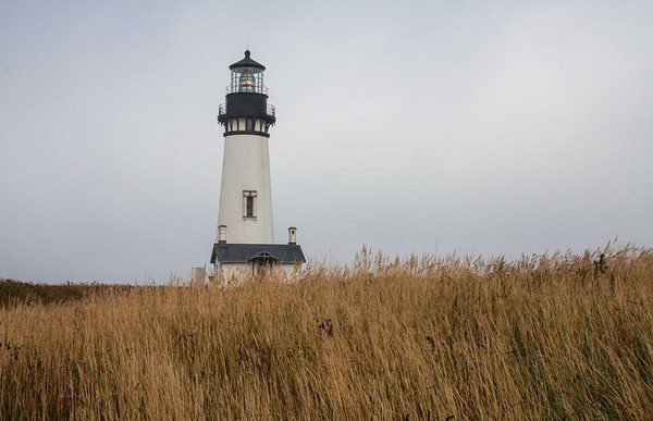 Yaquina Head Lighthouse north of Newport Oregon
