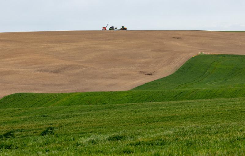 Palouse farming with bulldozer