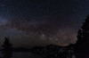 Milky Way Galatic Core ( on lower right side ) over Crater Lake