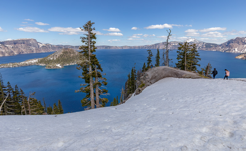 Crater Lake on a beautiful sunny afternoon
