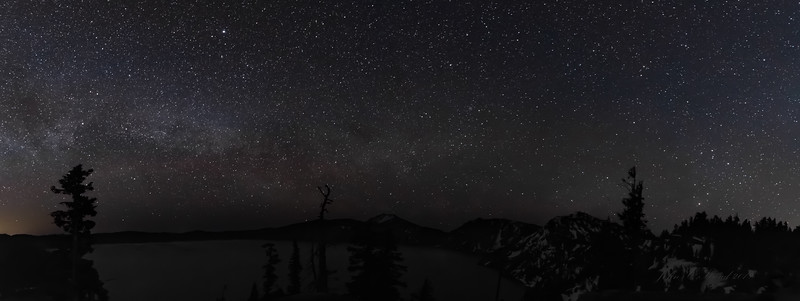Milky Way Panoramic over Crater Lake