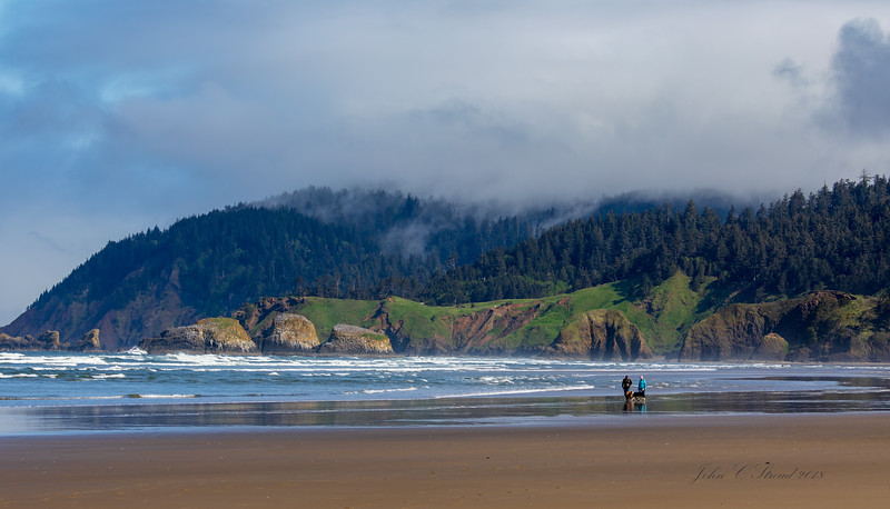 View of Ecola State Park from Cannon Beach