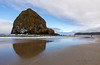 Haystack Rock ( 235 feet tall ) on Cannon Beach