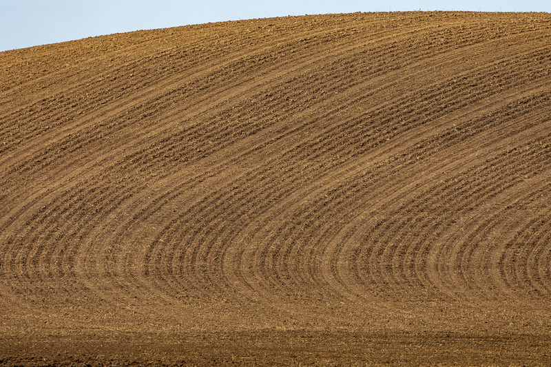 Palouse rolling farmland - tilled and ready for seeding