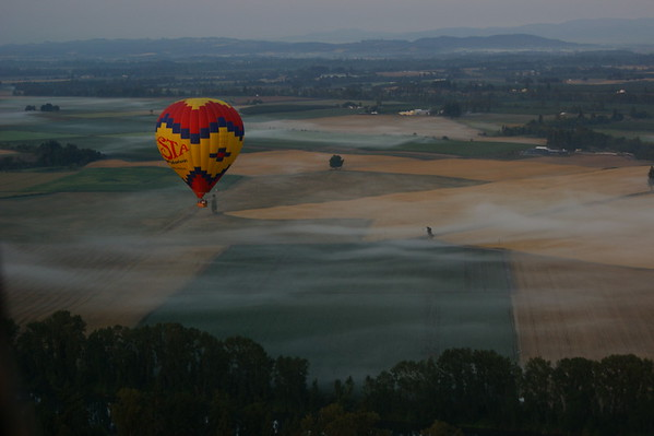 Willamette Valley near Newberg from hot air balloon
