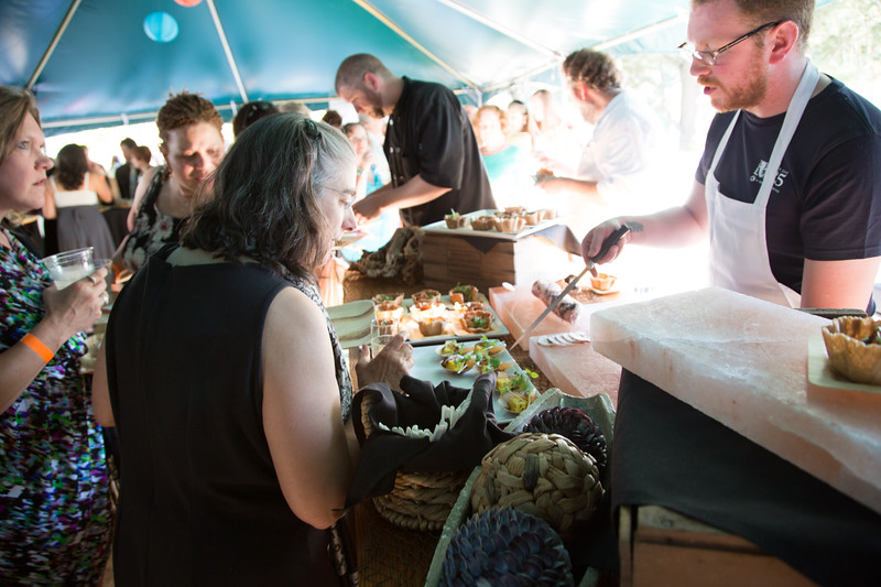 Oregon Zoo Catering & Events serves guests at the VIP reception.<br /> Photo Credit: McDermott Studios LLC