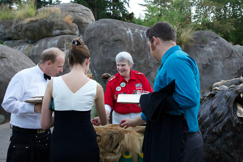 Zoolala guests interacting with Zoo Volunteer animal talkers.<br /> Photo Credit: McDermott Studios LLC