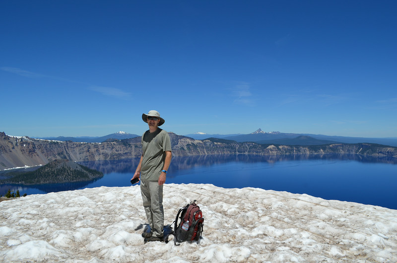 We hiked Garfield Peak and got a better view. We hiked over snow at the top.