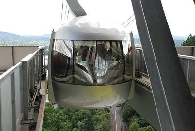 Portland Aerial Tram car reflections