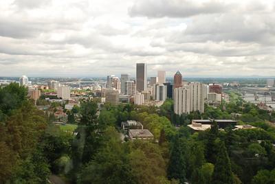 Portland Aerial Tram - views of Portland