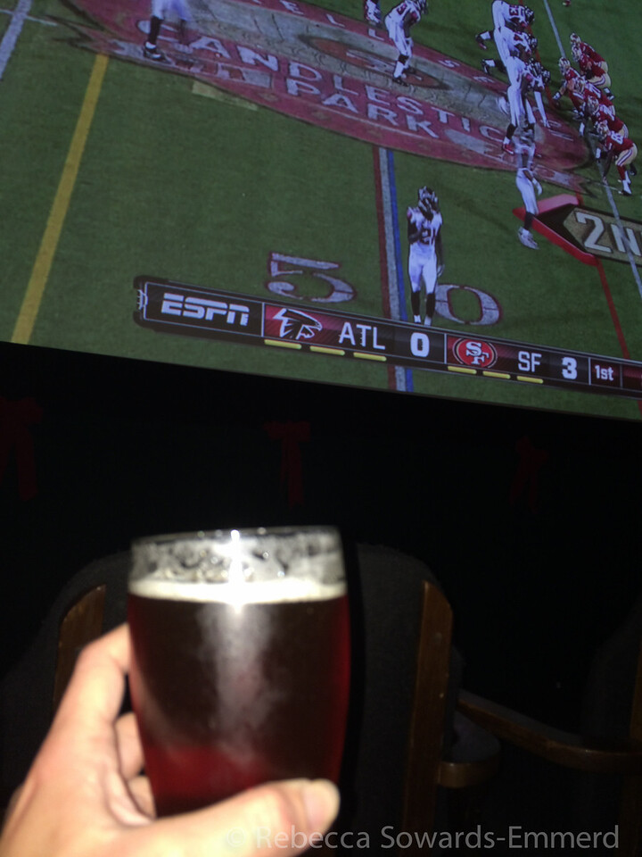 Like back at our hotel, which was also a brewery, and also had a movie theater that was playing the 49ers game. Yup.