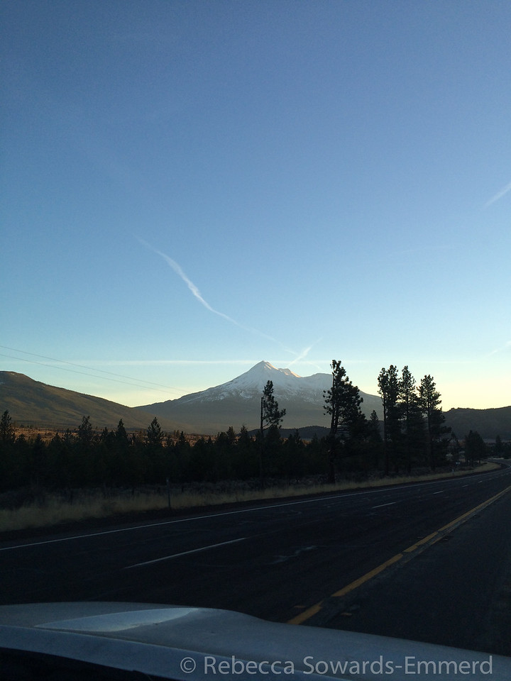 Driving south towards Mt Shasta - view of the big guy