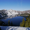 We didn't get to ski, but we did get to enjoy the peaceful view of Crater lake in the snow.