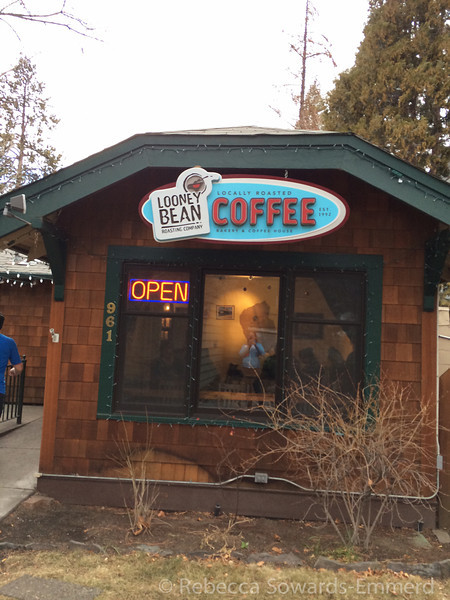 And what did we discover in Bend? A Loony Bean! Our favorite east side coffee house has a shop up here. It's even where the roast the beans. I could move here...