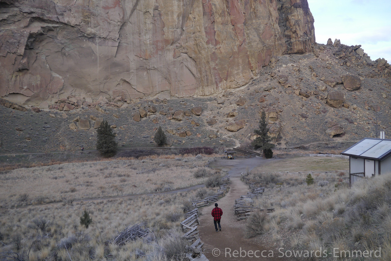 Hiking at smith rock.