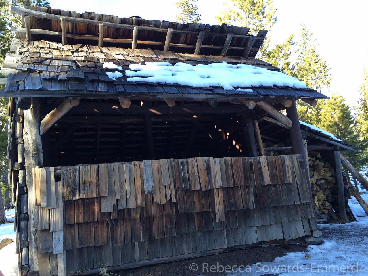 We did the 4 mile round trip ski to the Swampy hut. It had a stove inside and would have been a nice place to stop for a hot chocolate if 1) we weren't running out of daylight and 2) it was cold enough to want hot chocolate.