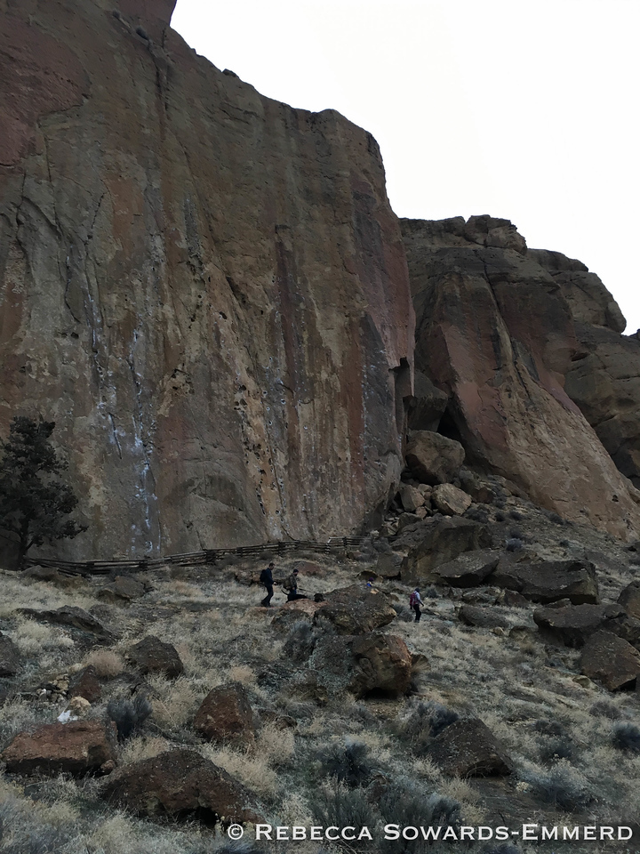 Checking out some of the climbing at Smith Rock