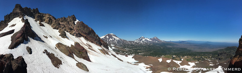 The panoramic view from Broken Top all the way to Adams
