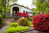 The Centennial covered bridge in Cottage Grove, Oregon, USA.