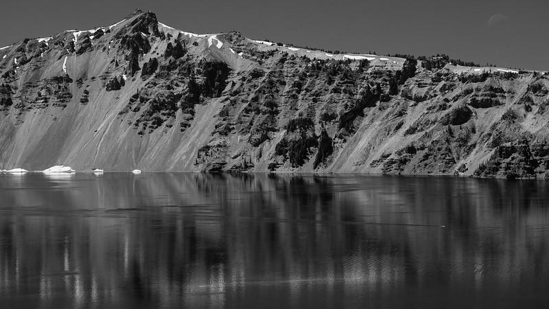 Moonset Over Hillman Peak