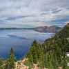 Crater Lake and Patchy Snow