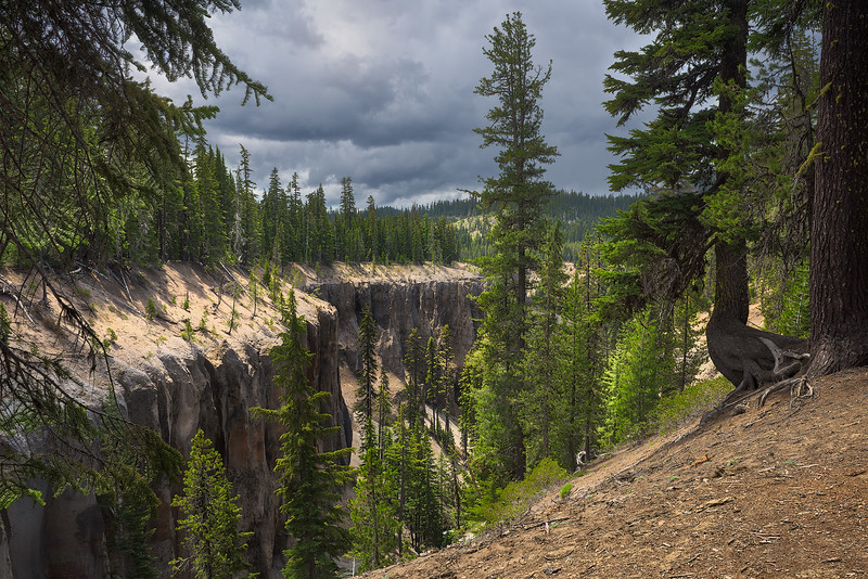 Deep Canyon and Stormy Sky