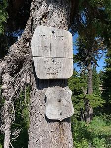 Entering the Mount Hood Wilderness.