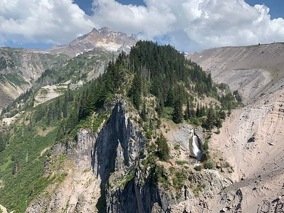 Mt Hood, Sandy River Canyon, and Paradise Branch Falls