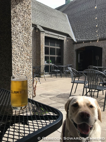 Beers with my hiking buddy at Claim 52 Abbey!