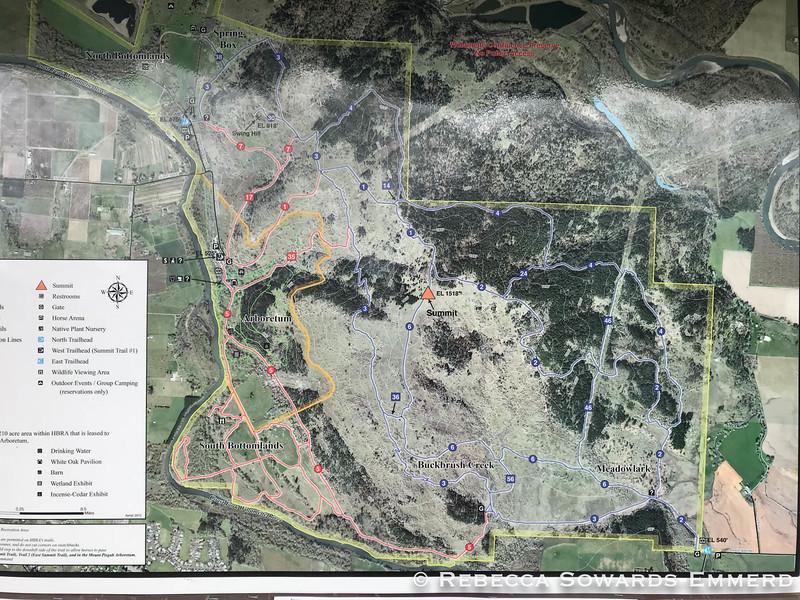 Map of Mt Pisgah