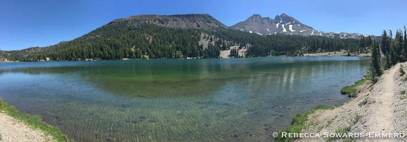 Panorama - Green Lake and Broken Top