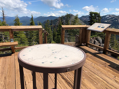 Peak finder on the new Iron mountain lookout
