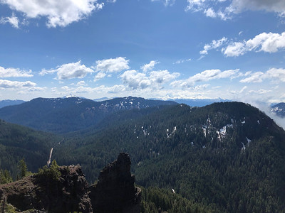 View towards Washington and the Three Sisters