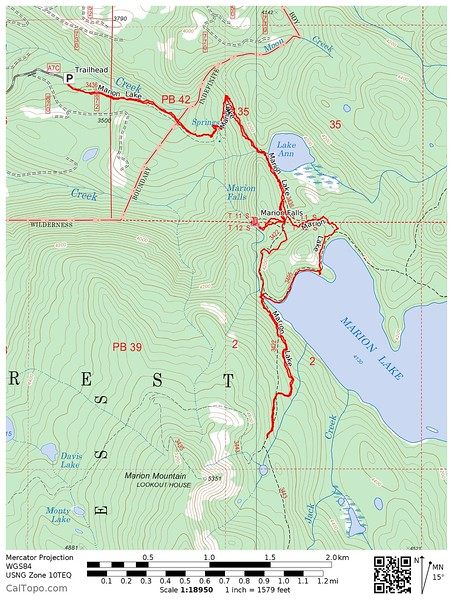 Map of the hike that I did.