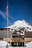 The Mt Hood Meadows ski facilities on Mount Hood, Oregon, USA.