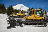 Ski slope grooming equipment at the Mt. Hood Meadows ski facilities at the base of Mt Hood, Oregon, USA.